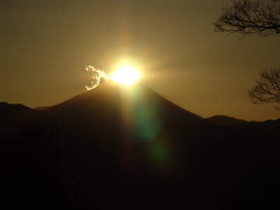 ダイヤモンド富士 in 高尾山