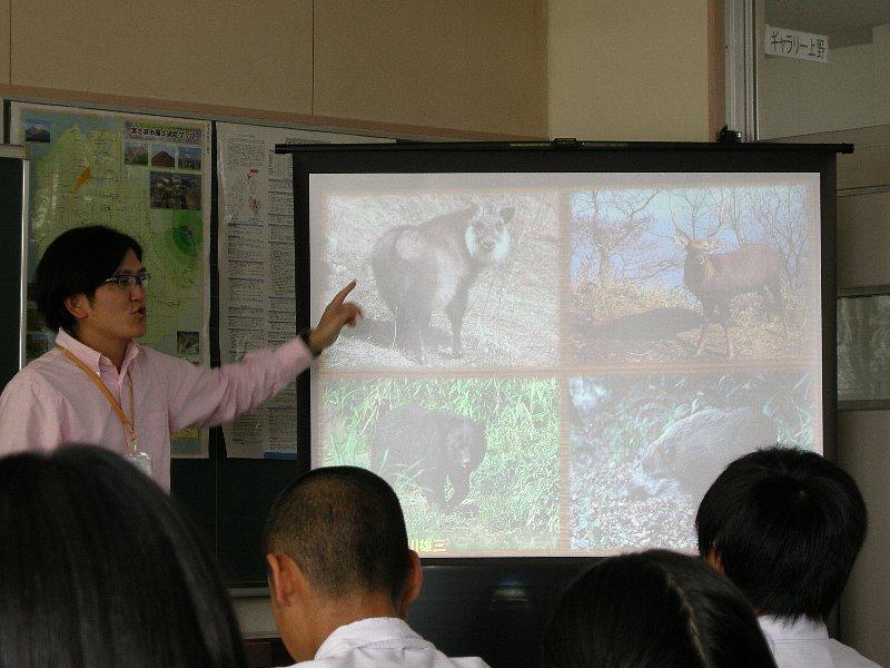 富士宮市立上野中学校に出張授業に行ってきました。