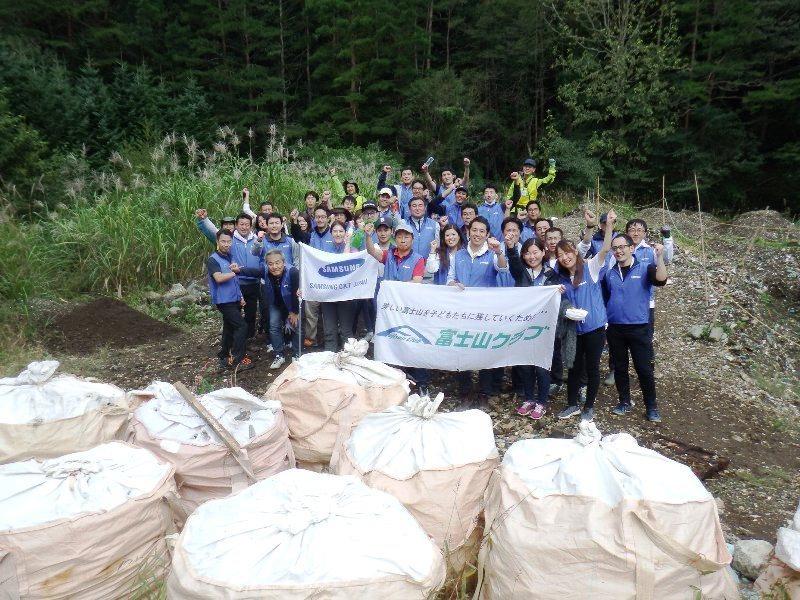 サムスンC&Tジャパンの皆さまと清掃活動