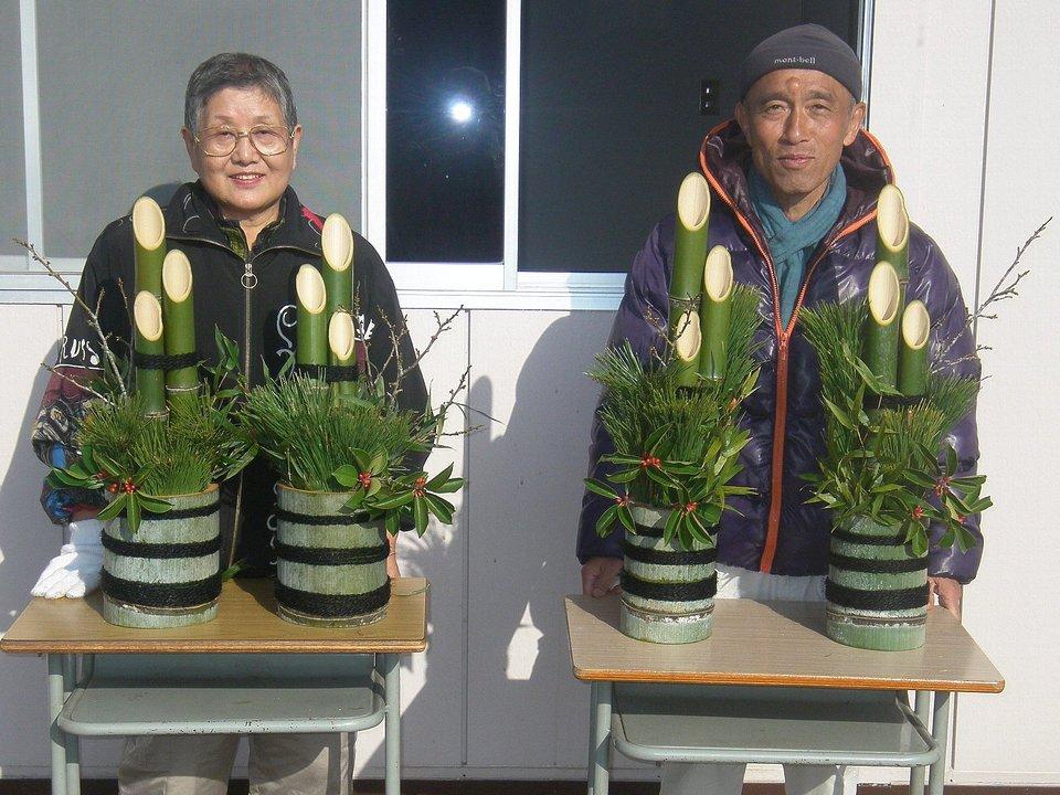 竹林整備体験とミニ門松作りを実施しました!!