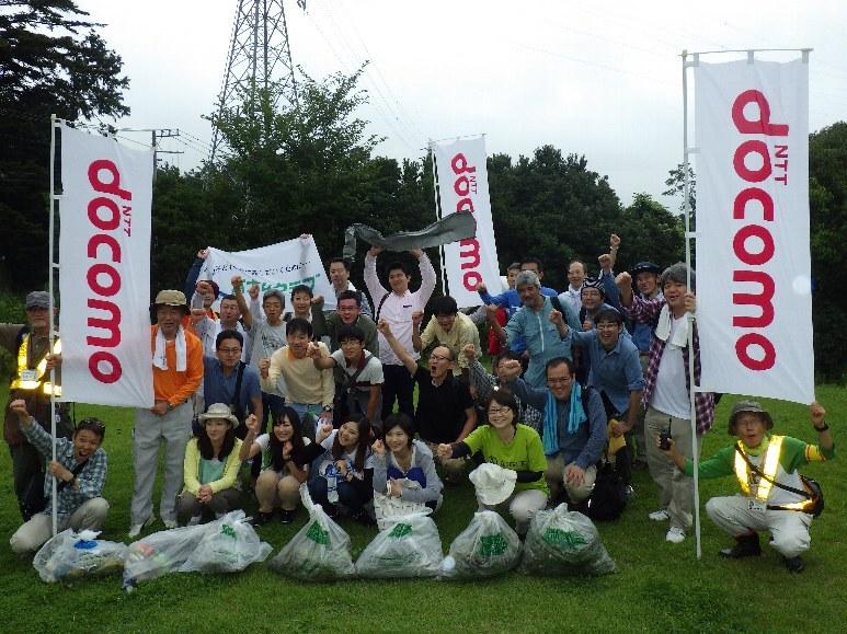 株式会社ドコモCS東海静岡支店のみなさんとオオキンケイギク駆除活動を行いました!