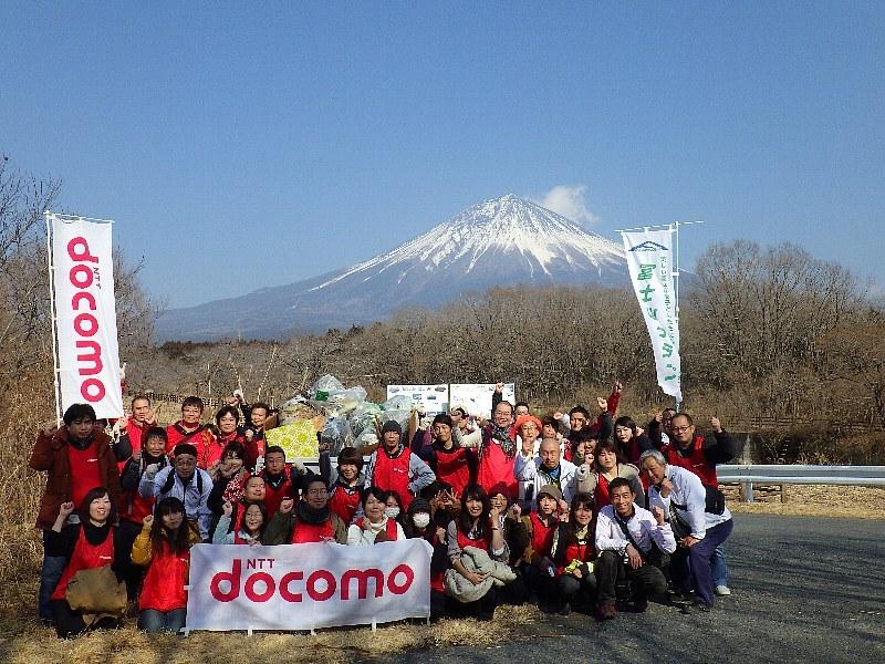 ドコモ東海グループのみなさんと清掃ボランティアを実施!