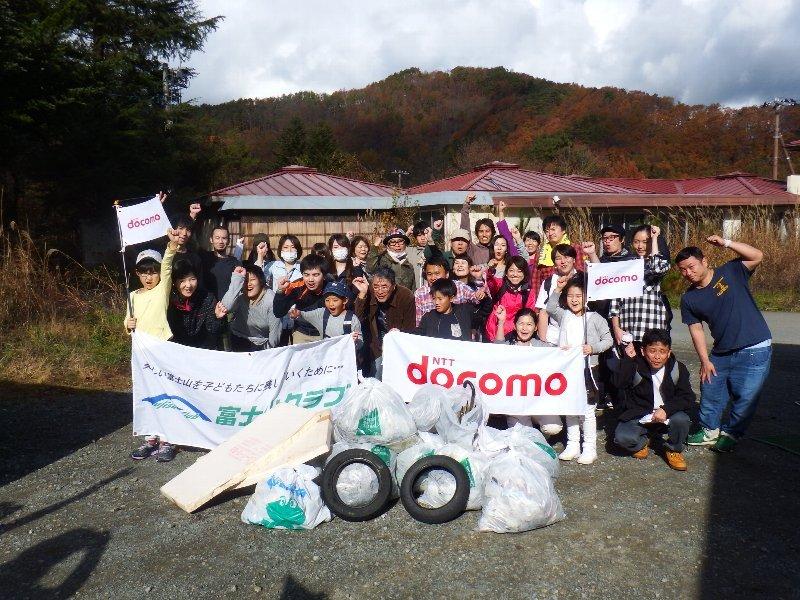 ドコモ・サポートの皆さまと清掃活動
