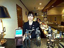 フロントに置かれた富士山クラブの募金箱