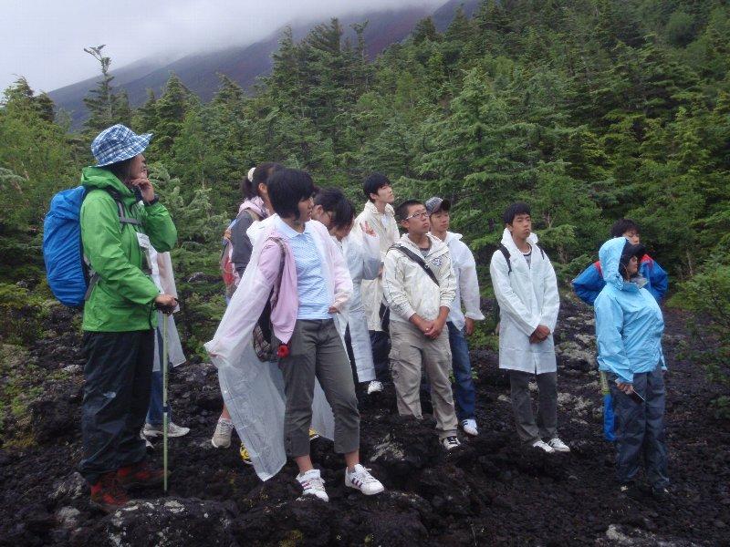 神奈川県立生田高等学校の皆さんと登山道トレッキング実施!