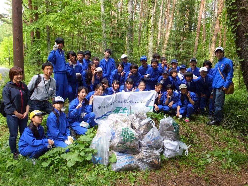 世田谷区立砧南中学校2年生と清掃活動を実施しました!