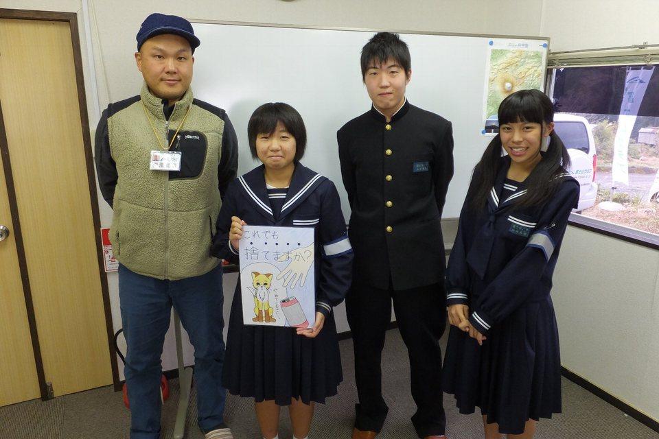 富士宮第二中学校の生徒さんが訪問