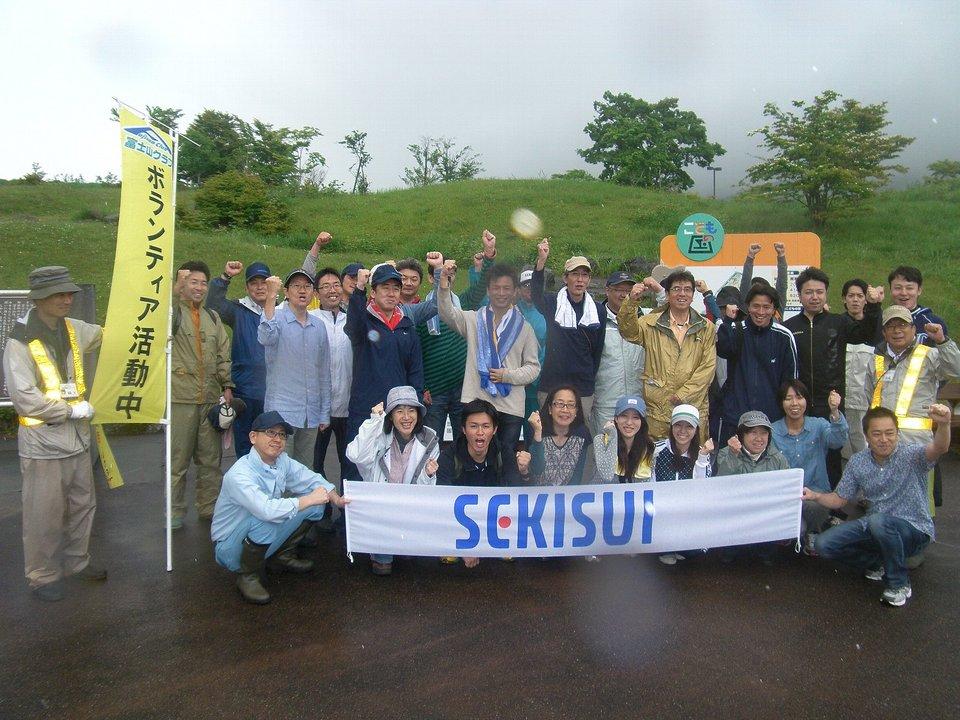 セキスイハイム東海グループのみなさんとオオキンケイギクの駆除活動を実施しました!!