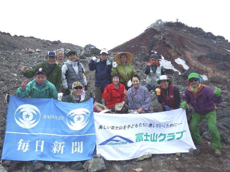 2014富士登山 講談アルピニスト神田紫さんが富士山頂上で語る。。。