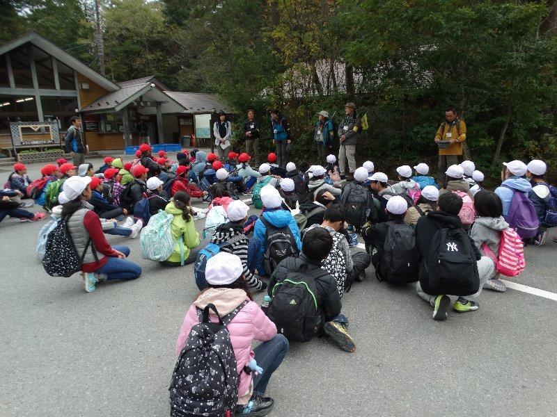 昭和町立常永小学校6年生と樹海トレッキング