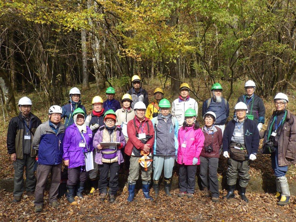 西臼塚協定林の毎木調査を実施
