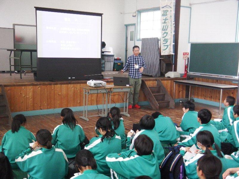 南アルプス市立八田中学校の生徒さんへ講演 @ もりの学校