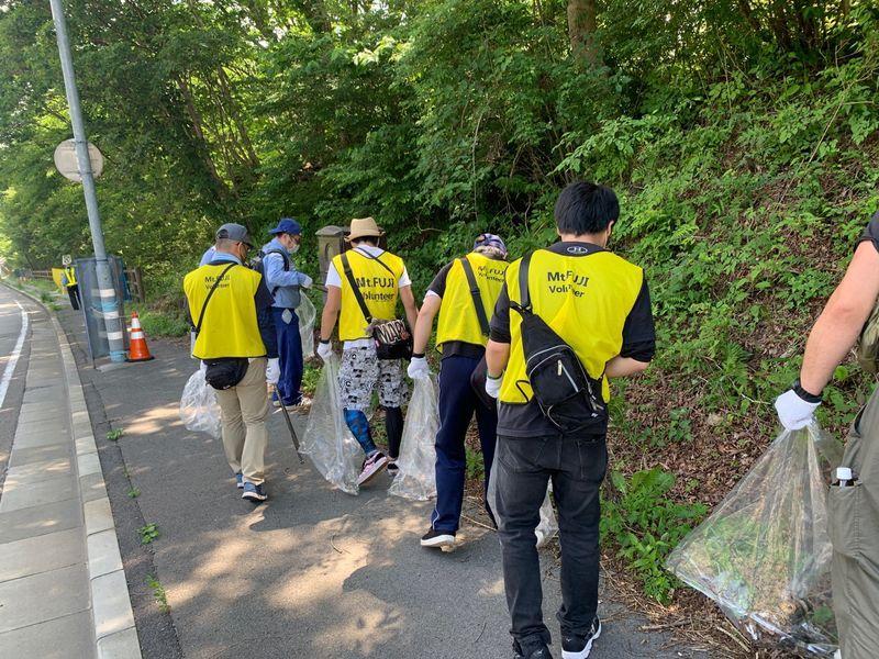 国道139号線の清掃に道路協力団体として参加してきました!
