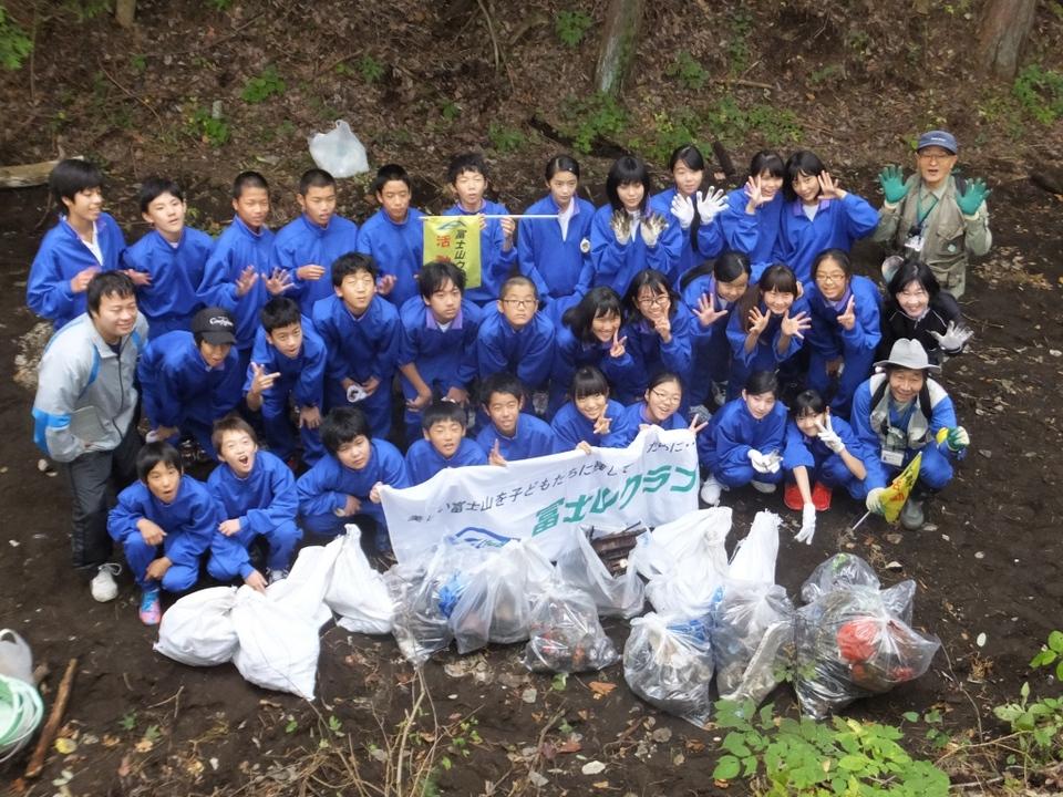 世田谷区立砧南中学校1年生と清掃活動!