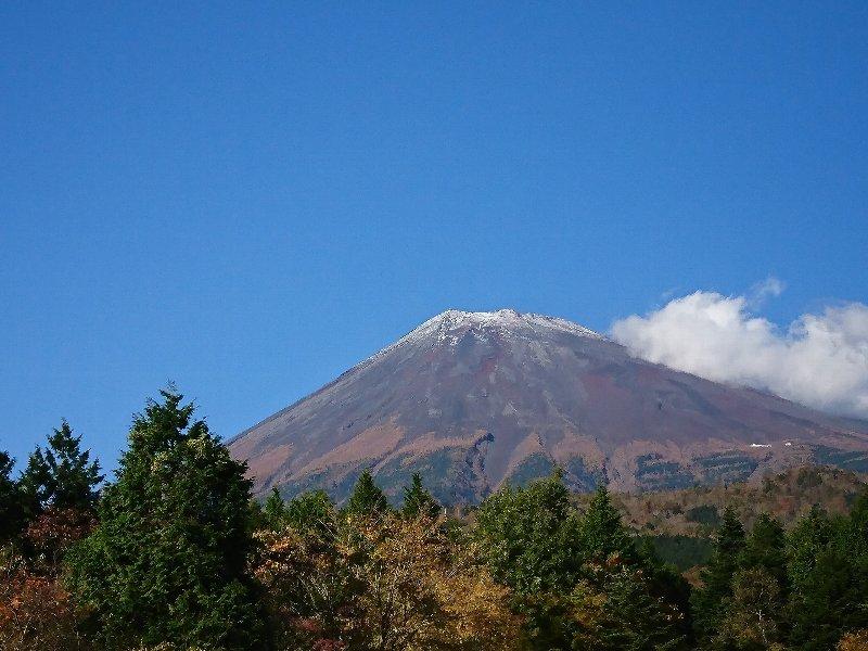 2017年の富士山初冠雪