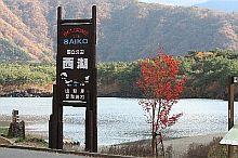 逆さ富士も見られる西湖