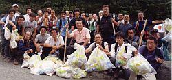 2008年7月に行われた、富士山清掃登山にて